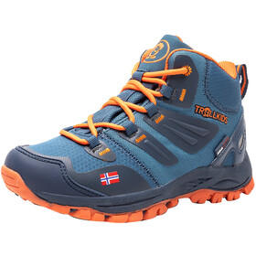 TROLLKIDS Rondane Hiker Mid Shoes Kids mystic blue/orange